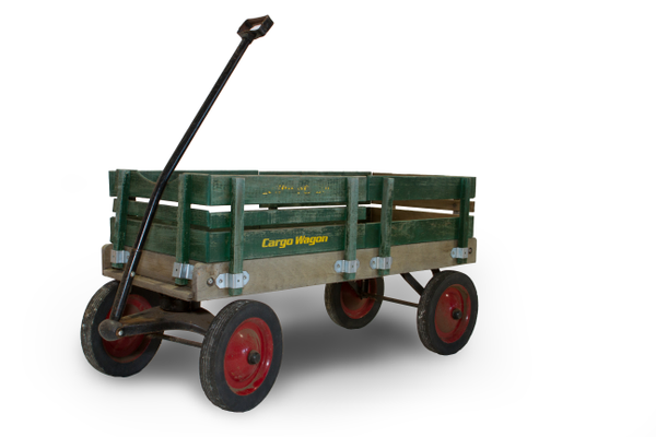 Green Wooden Wagon