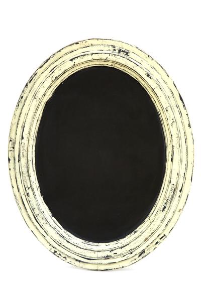 Ivory Chalkboard (Oval)