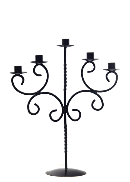 Black Candelabra (5-Candle, Large)