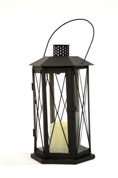 Black Manor Lantern (Tall Hexagon)