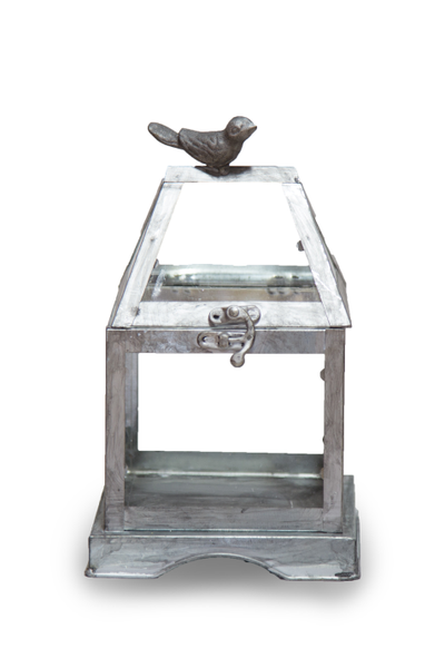 Metal Bird Terrarium Lantern (Small)