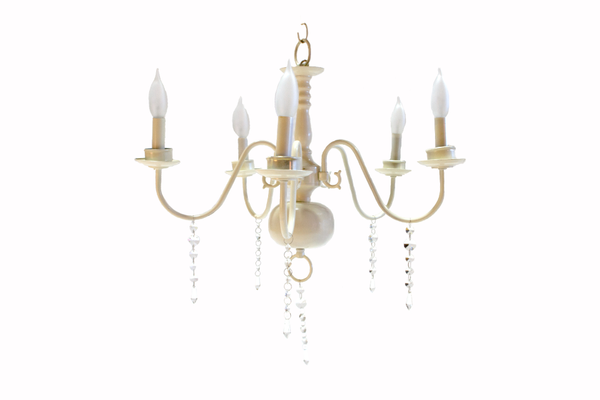 Ivory Chandelier with Crystals (5-Light)