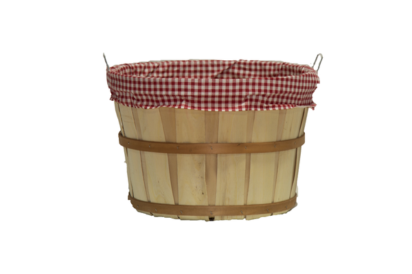 Large Bushel Basket with Fabric Liner