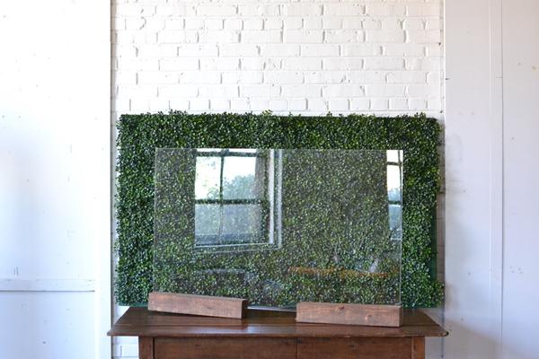 Plexiglass Bar Shield and Wooden Base
