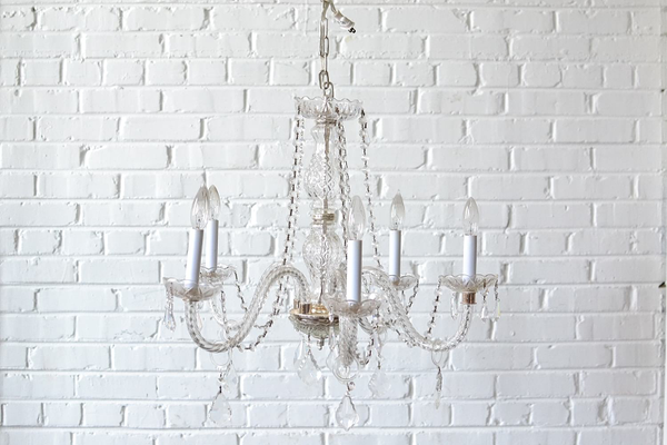 Cut Glass Chandelier #6