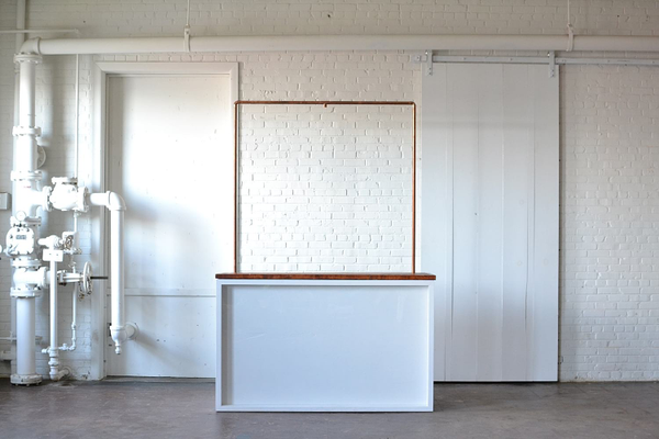 Shadowbox Bar with Truss (Wood Top and Plexi Front)