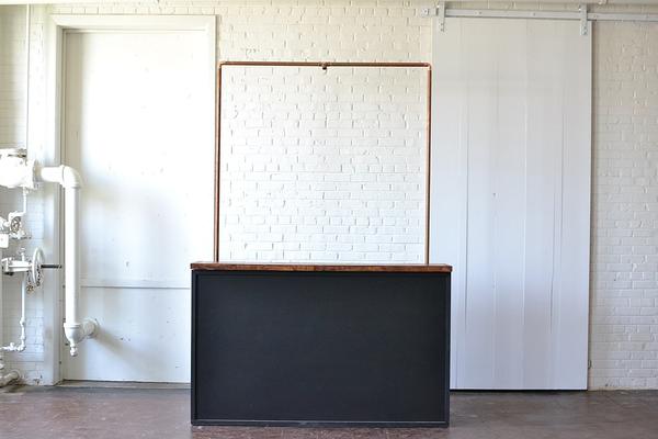 Chalkboard Bar with Copper Truss