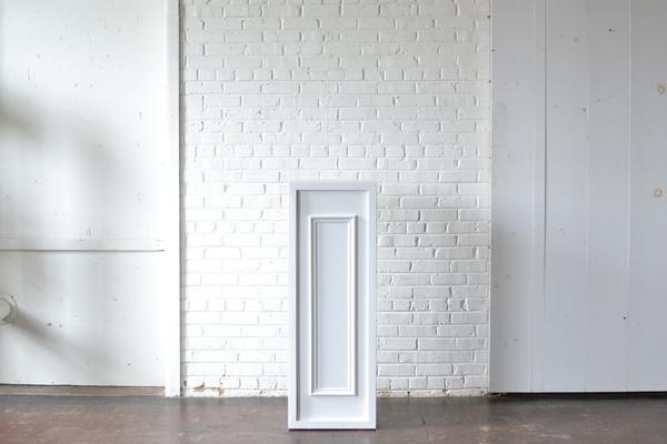 White painted estate style bar column