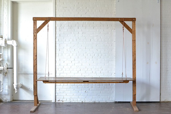 Hanging Farm Table (Copper Cable) with 8' Wooden Truss