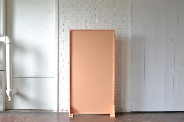 terracotta peach colored panel