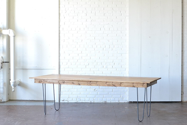 hairpin wooden dining farm table modern