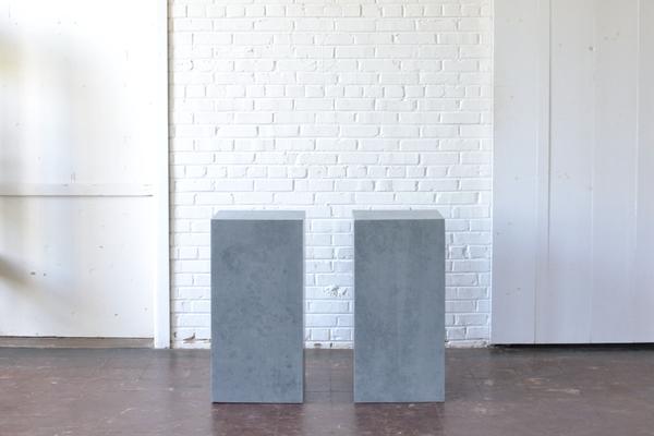 pair Gray Pedestals