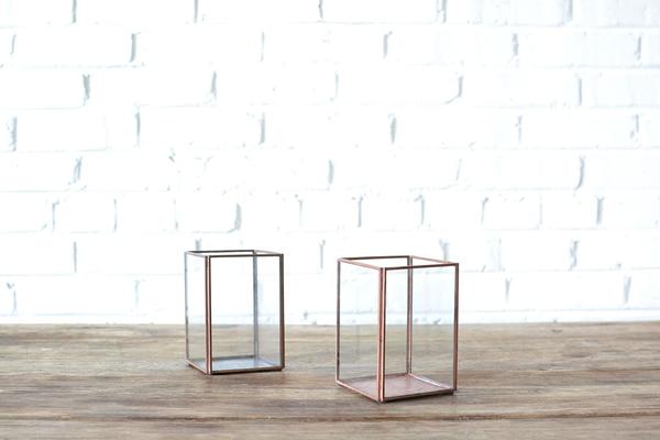 Square Glass Candleholder
