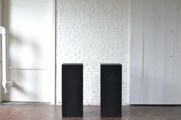 Pair of Black Pedestals