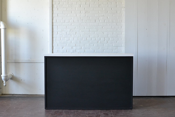 Homestead Chalkboard Bar with White Top