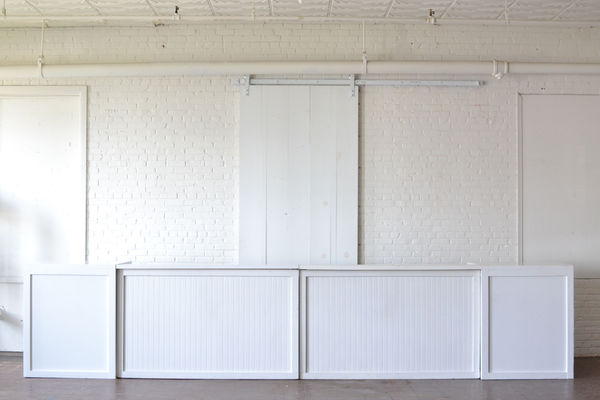 Two Column White Beadboard Statement Bar