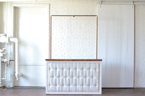 Tufted Bar with Copper Truss