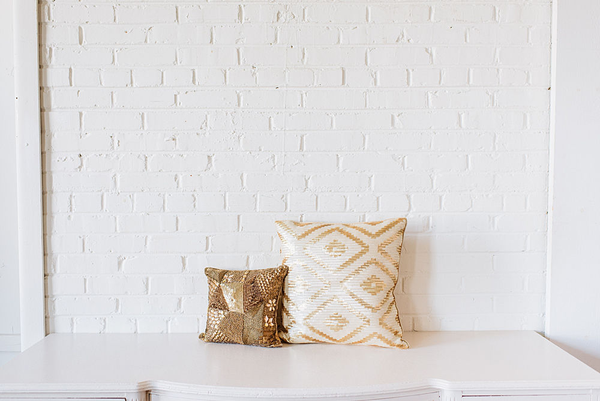 Pair of Gold Sequin PIllows