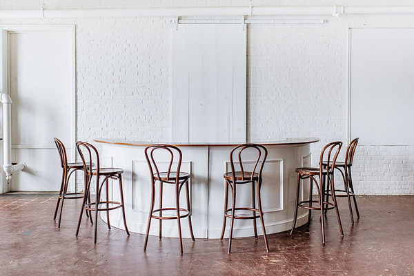 Estate Bar with Bentwood Barstools
