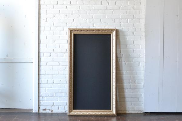 gold frame chalkbaord