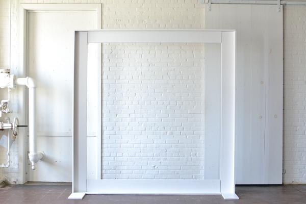 modern white frame backdrop