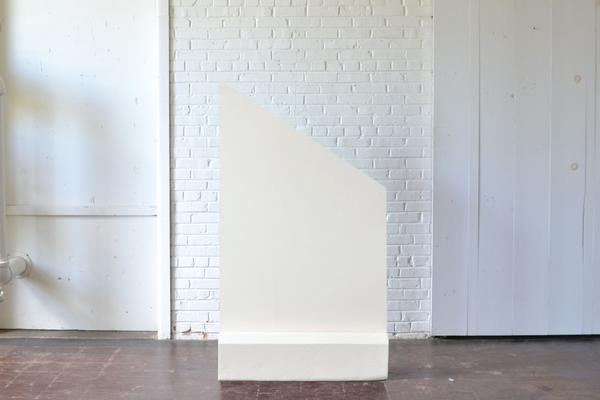 Geometric Wheat Tan netural freestanding Panel Base