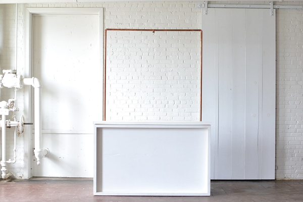 Shadowbox Bar with Truss (White Top and Plexi Front)