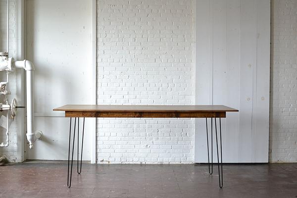 hairpin barheight wooden table
