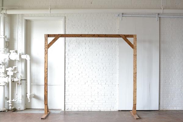 large wooden truss