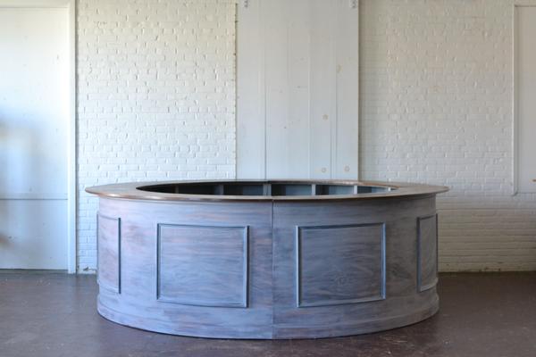 honey gray wooden full round bar