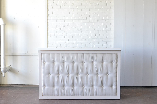 Homestead Tufted Bar with White Top