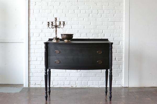 classic dark wood server table