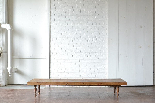 wooden low-set table