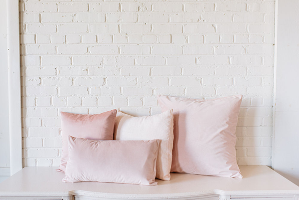 Collection of 4 Blush PIllows