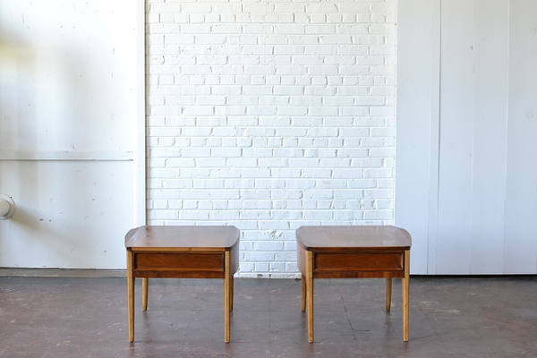 Pair of Modern wooden End Tables