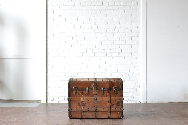 Leather-Strapped Trunk