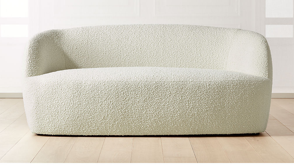 modern white loveseat