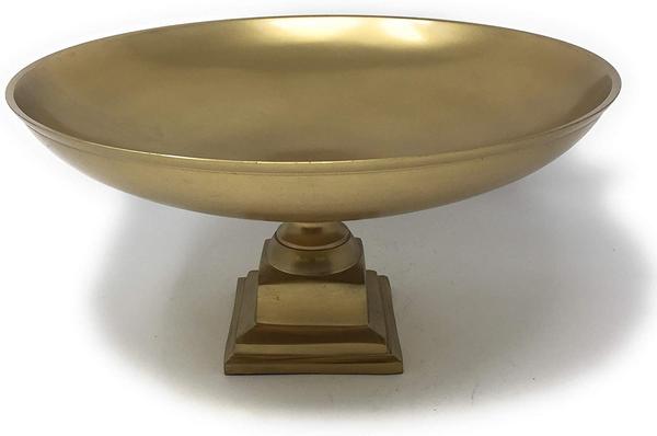 gold pedestal bowl for event wedding rental decor