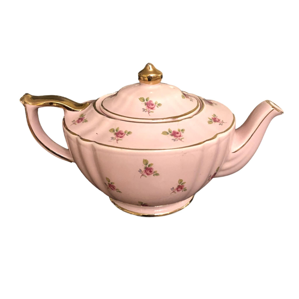 Vintage Pink with Roses Teapot
