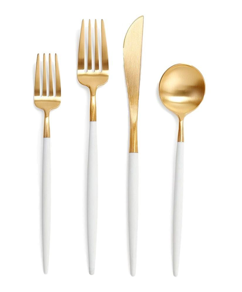 White Cutlery 4 Piece Set