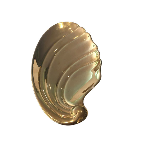 "Golden ""Feather"" Candy Dish"