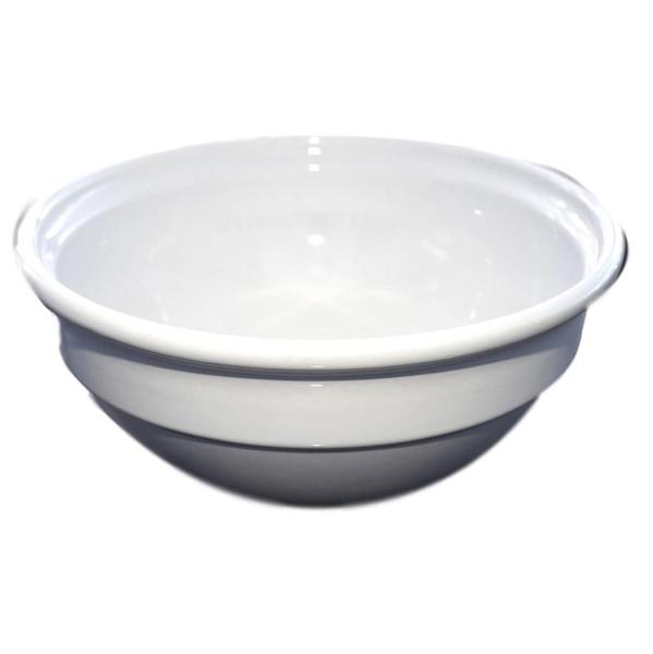 Large White Plain Salad Bowl