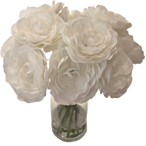 """""""Tall"""" Warm White Flower Collection"""