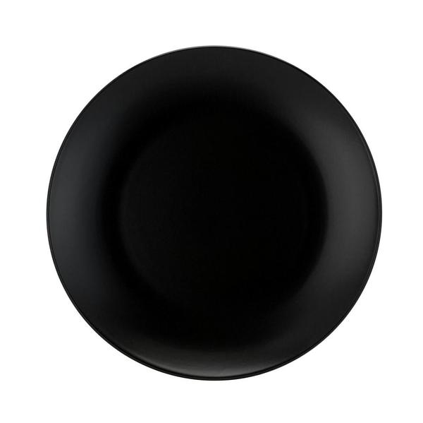 "Matte Black Stoneware 8.5"" Medium Plates"