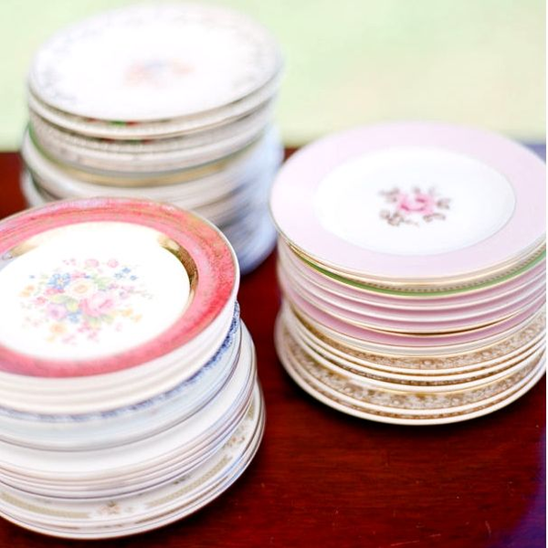 Vintage China Dinner Plates - Mixed Styles
