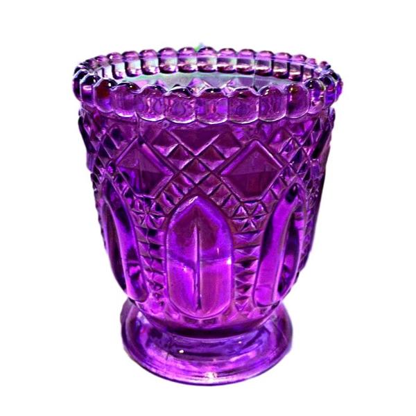 Purple Fancy Glass Votive Holders