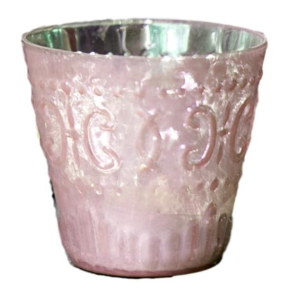 Pink Mercury Glass Candle/Vase Holders
