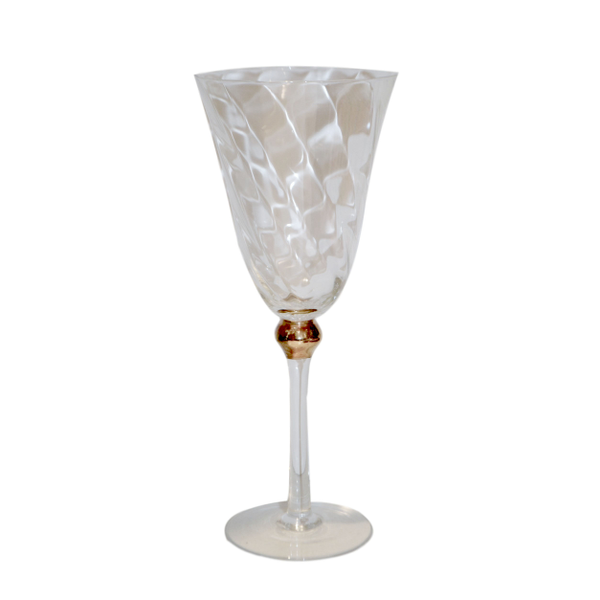 Gold Ball Wine Glasses