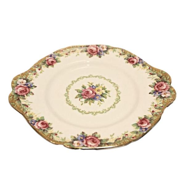 """Tapestry Rose"" Cake Plate"