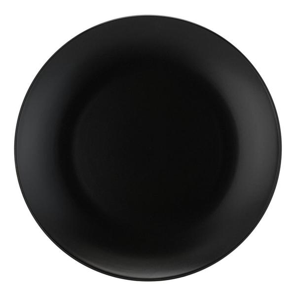 "Matte Black Stoneware 10.5"" Large Dinner Plates"